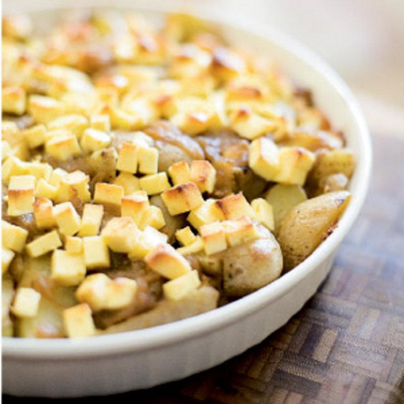Fingerling Potato & Caramelized Onion Au Gratin | WNC Magazine