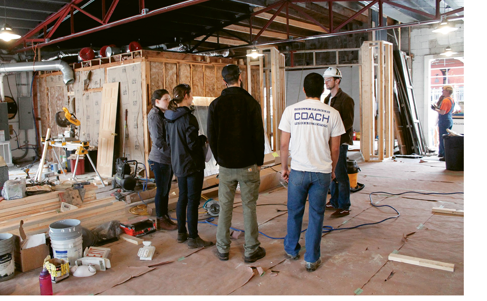 12 to 16 students across many disciplines, including architectural design, sustainable building, and construction management, spend 30 hours a week over the course of a full academic year working as a team to build a project.