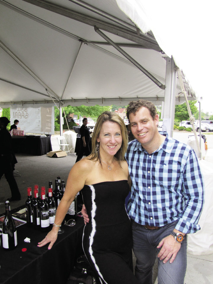Allison Lafferty and Alister Glen with  DGB wines