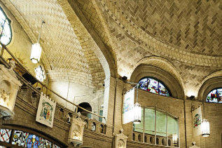 One of the architect's last projects was the Basilica of St. Lawrence in Asheville, which he asked to design when he saw that the city's Catholic congregation had outgrown a prior building. The church is also Guastavino's final resting place.