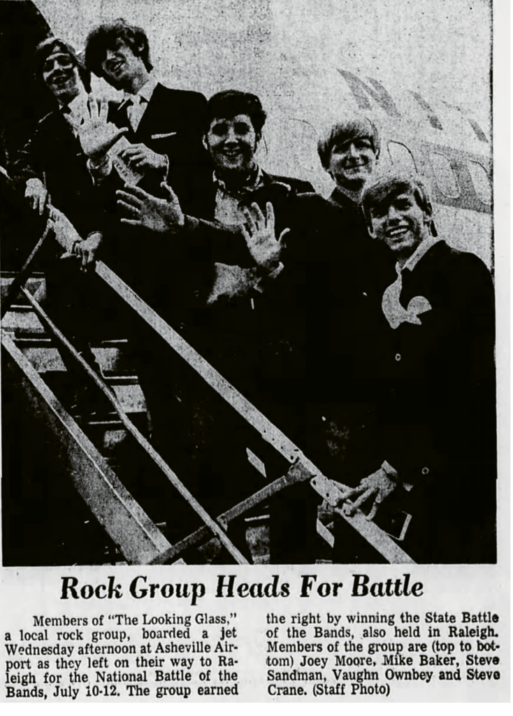 The Looking Glass, which placed fifth in a 1969 National Battle of the Bands.
