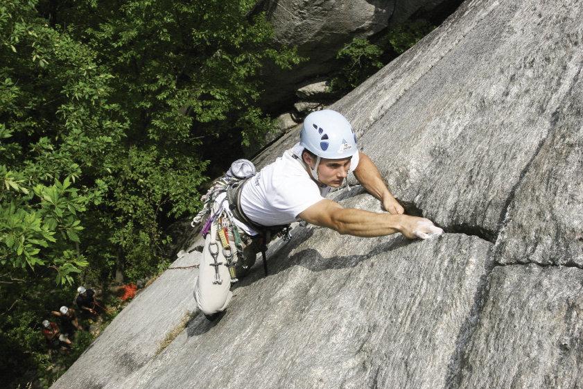 Climbing at Chimney Rock