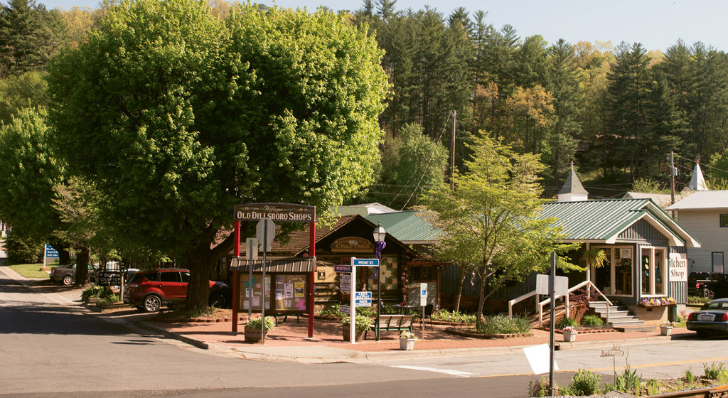 This quaint whistle-stop town is only two blocks long.