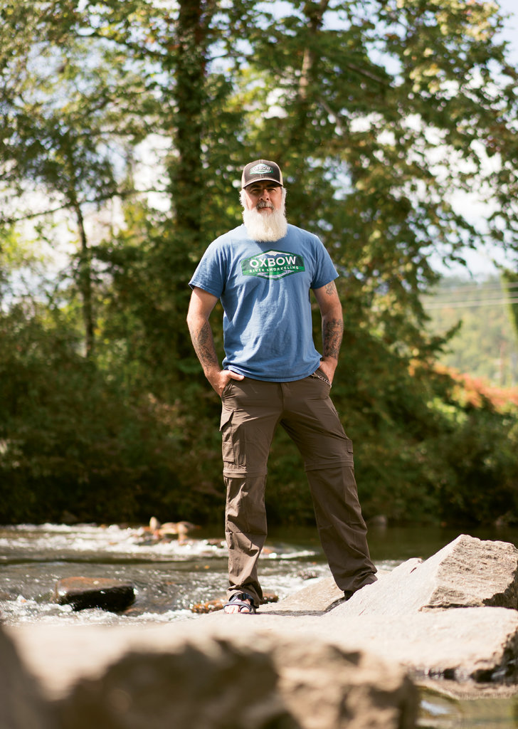GOING UNDER - Kevin Merrill's outfit, Oxbow, offers ecology-driven river snorkeling adventures.