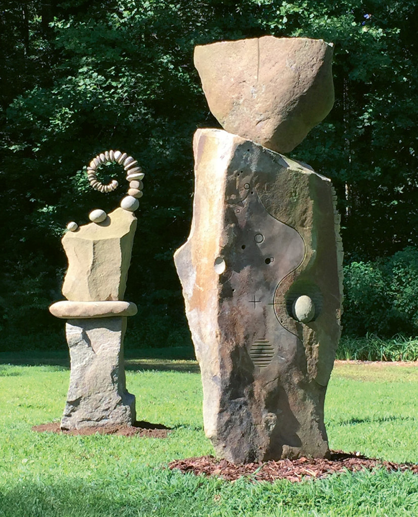 Returning (left) and Cleopatra can be found at Dovecote, a model landscape garden in Cashiers that showcases several of Peverall's works.