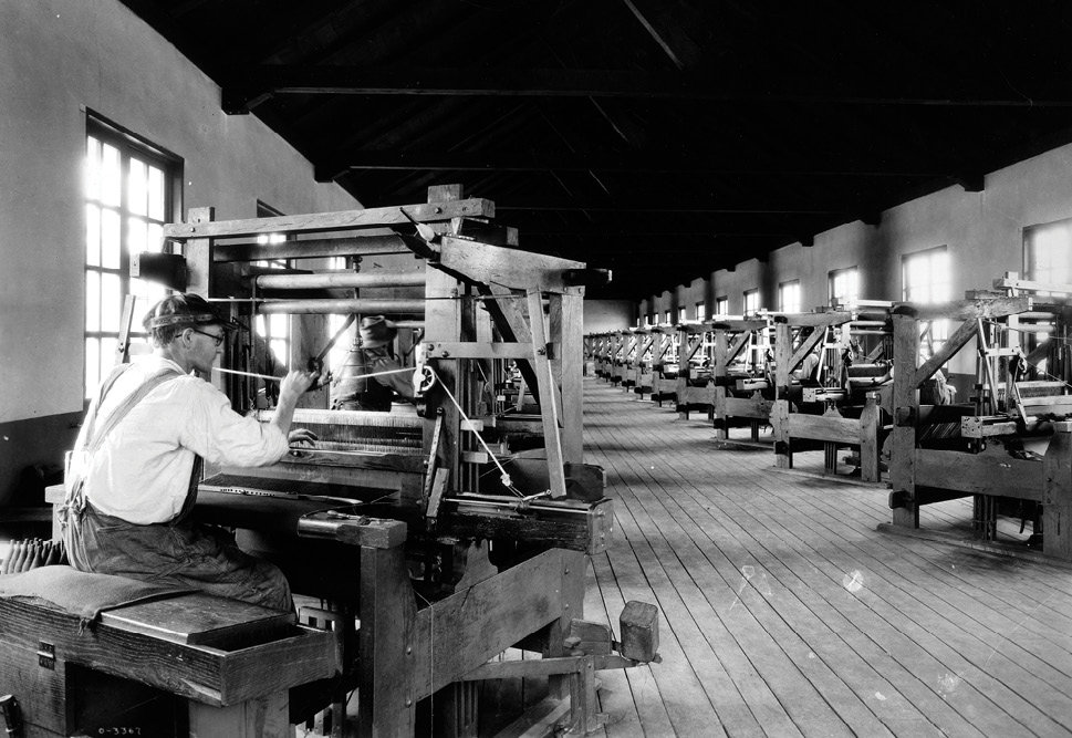 At its height, 40 looms were in operation.