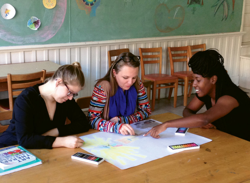 "Mars Hill students engage in art to explore the question, ""What is art therapy?"""