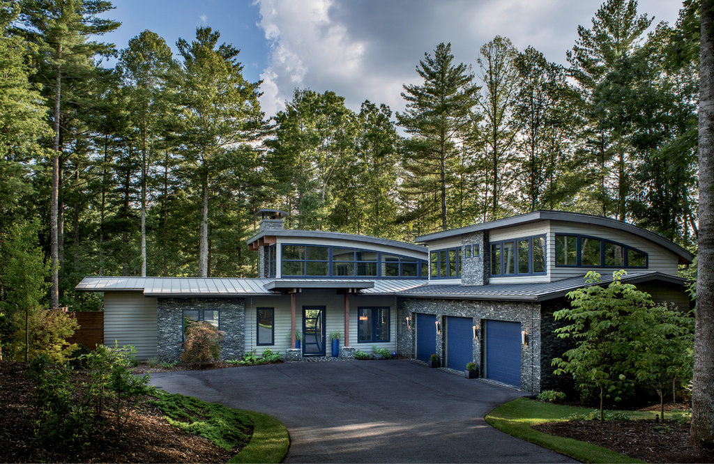 The 4,650-square-foot house in The Ramble Biltmore Forest is a standout  because it's one of the first contemporary homes in the master-planned community.