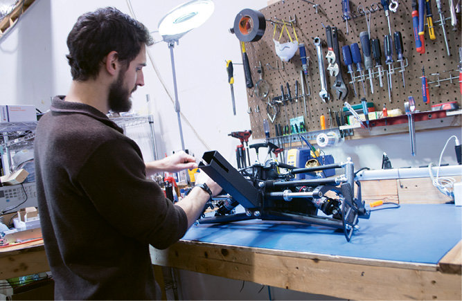 Josh Mather-Pike constructs an air suspension
