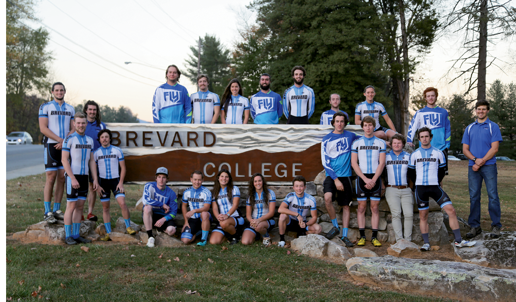Brevard College mountain bikers