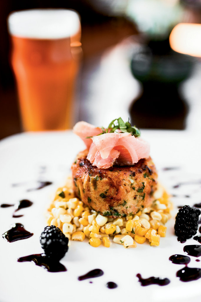 Mountain Style: The Bistro's location in downtown Bryson City offers fine American dining in a boutique hotel. Entrées include the savory, sweet, and smoky crab cake, served with fresh corn, blackberry coulis, and topped with wild Sockeye salmon.