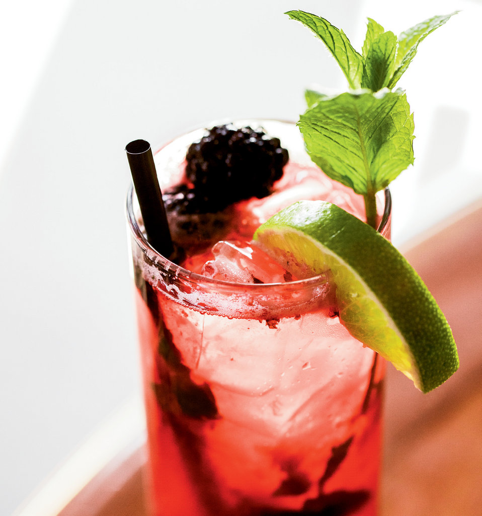 Summer Sipper: The blackberry mojito craft cocktail from The Bistro at the Everett Hotel in Bryson City