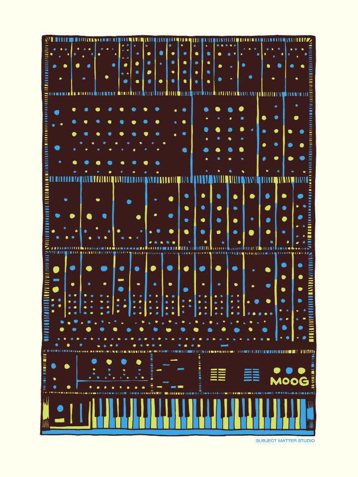 Moog art print. Courtesy of Drew Findley
