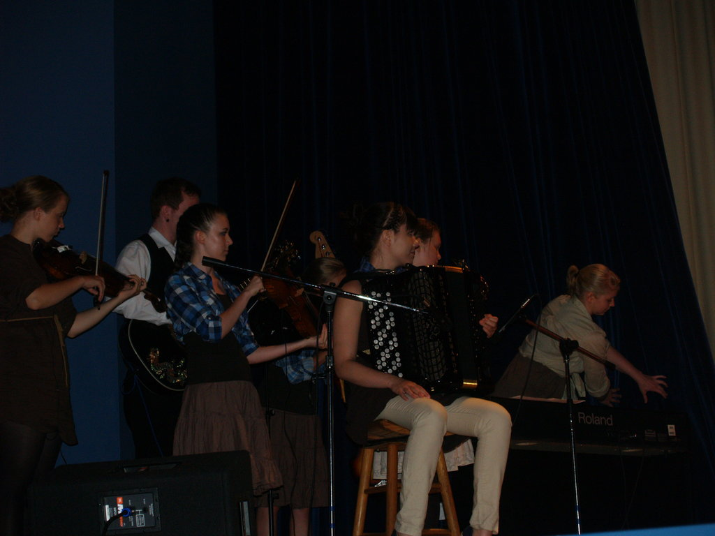 A woodwind sextet regales the audience