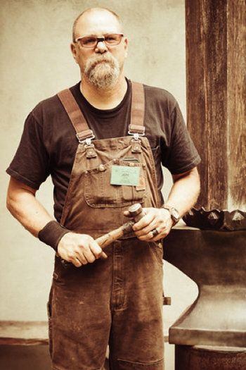 Blacksmithing instructor Jeff Mohr