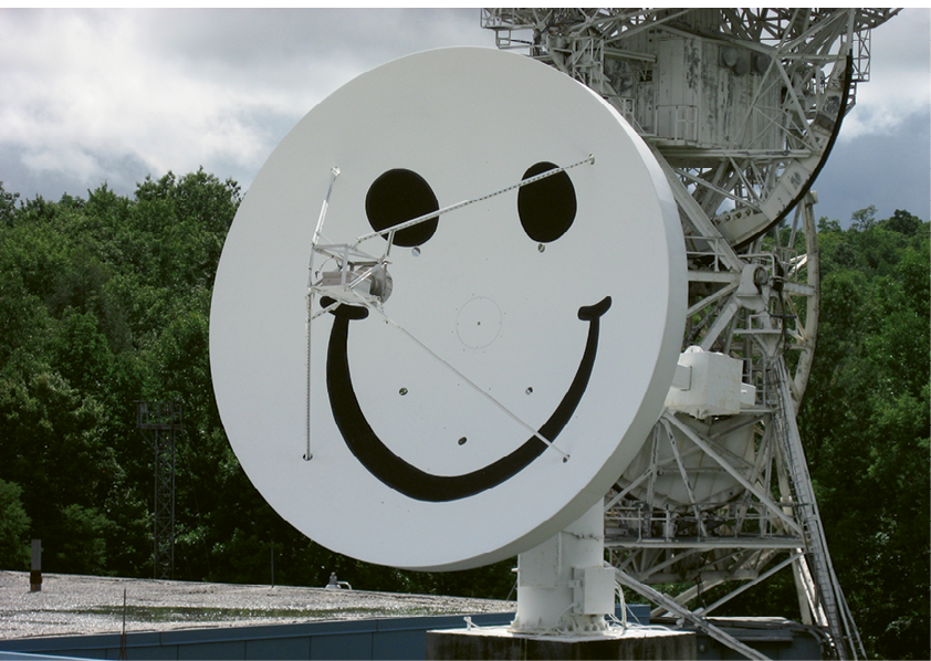 During the NSA's tenure at Rosman Research Station, workers painted a smiley face on one of the telescopes—a sly wink at the Soviet satellites that surely looked down on it.