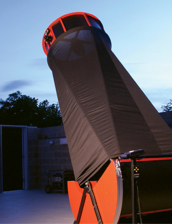 The state's largest public-use telescope, at Bare Dark Sky Observatory