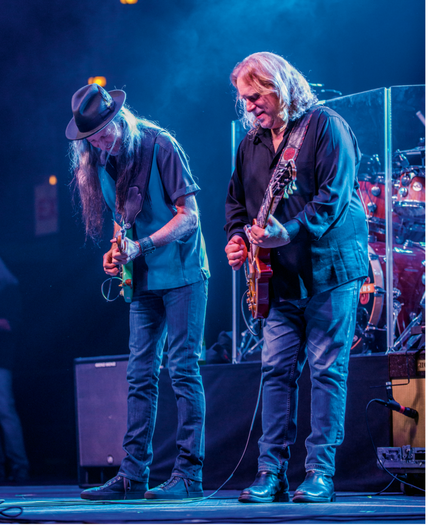 "Haynes and Doobie Brothers guitarist/vocalist Patrick Simmons center stage at the 2015 Christmas Jam. They performed some of the Doobie's most acclaimed songs, such as ""Long Train Running"" and ""Black Water."""