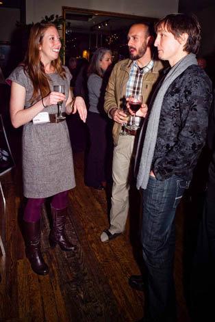 WNC Managing Editor Melissa Smith, Patrick Cavan Brown, and Ryan Reardon