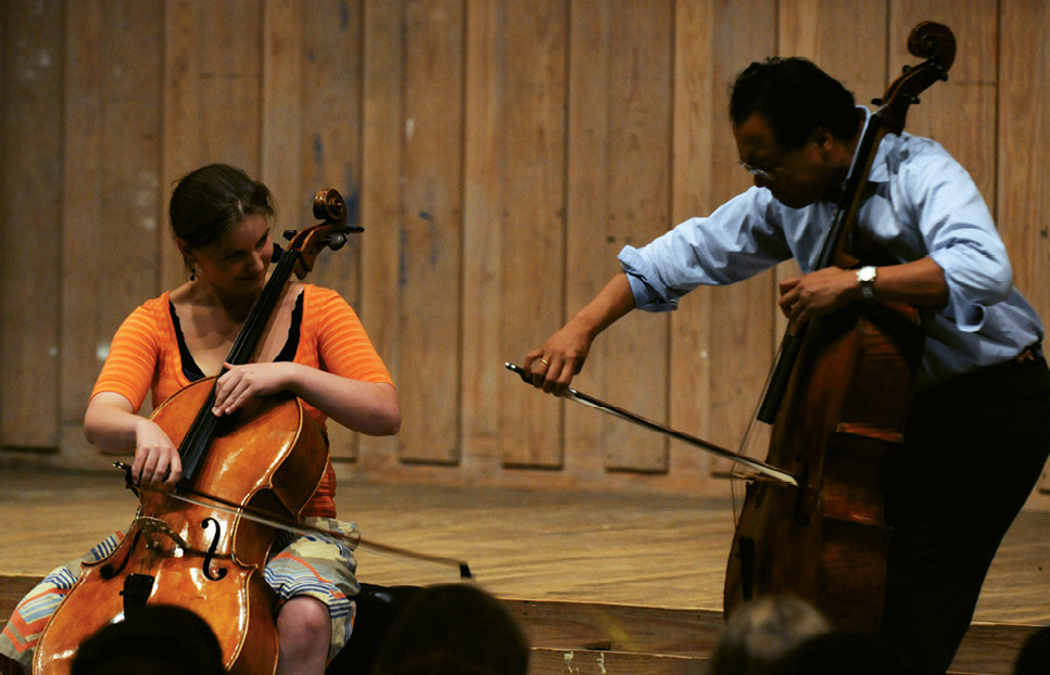 The Apprentice: Students attending the Summer Institute study under professionals such as cellist Yo-Yo Ma, who taught a master class and performed as the guest artist in 2011.