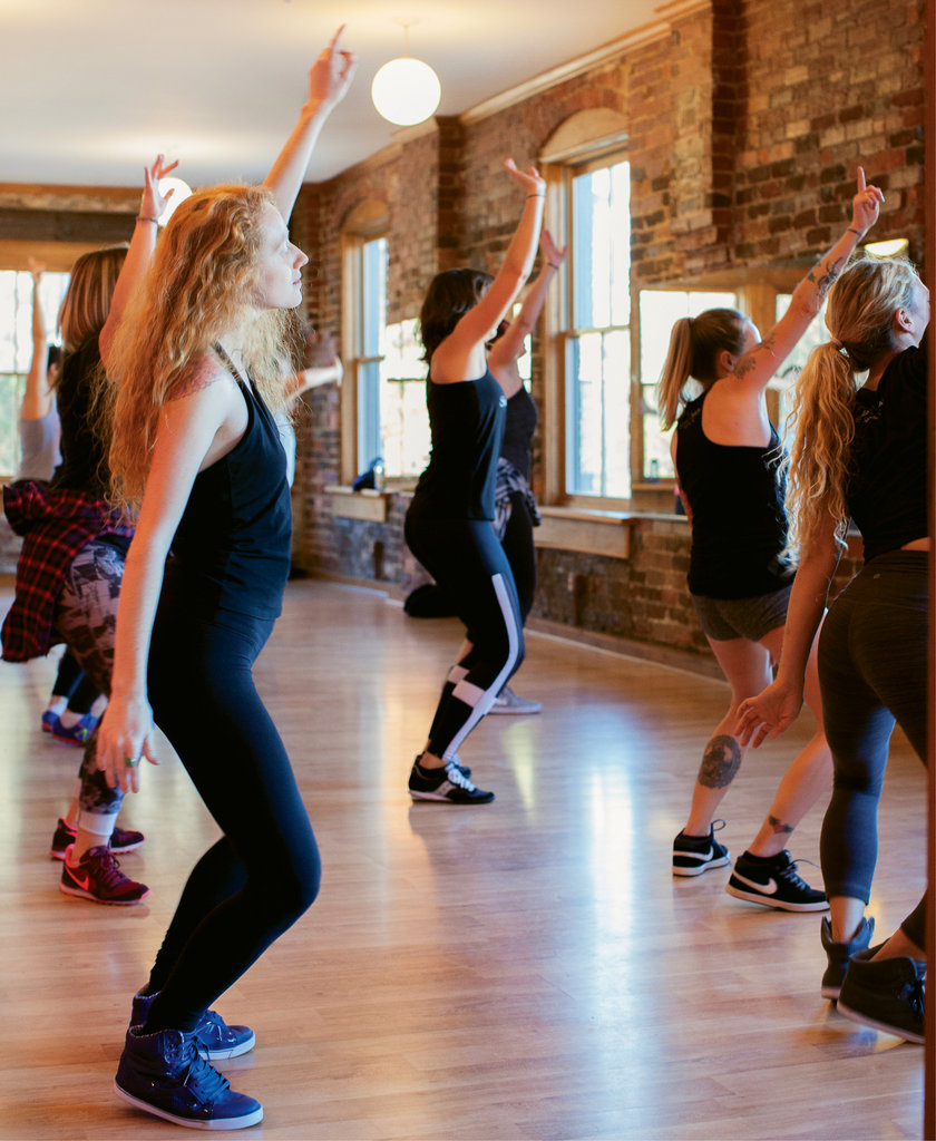 Rather than focusing on choreography, the Hip Hop Fitness classes at Studio Zahiya are more about sweating while having fun.