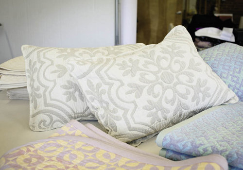 O'Bryan's sewing company creates  pillow shams and blankets, which are sold in small retail shops in Florida, North Carolina, Tennessee, and Virginia.