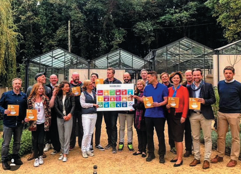 Dissen visited Omved Gardens while in London for the United Nations meeting on Global Food Policy.