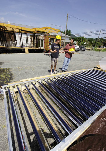 ASU's entry in the Solar Decathlon must be constructed and its systems tested, including solar components.