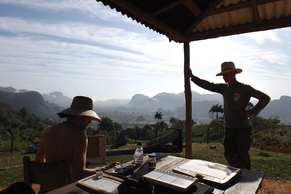 Cuban Chronicles: Holt's most recent painting expedition took him to both the bustling streets of Havana and the rural wonderland of Viñales in western Cuba.