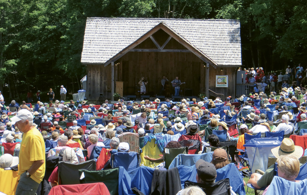 Always held the third Saturday in June at Grayson Highlands State Park, the Wayne C.  Henderson Music Festival & Guitar Competition pulls together old-time and bluegrass fans and musicians.