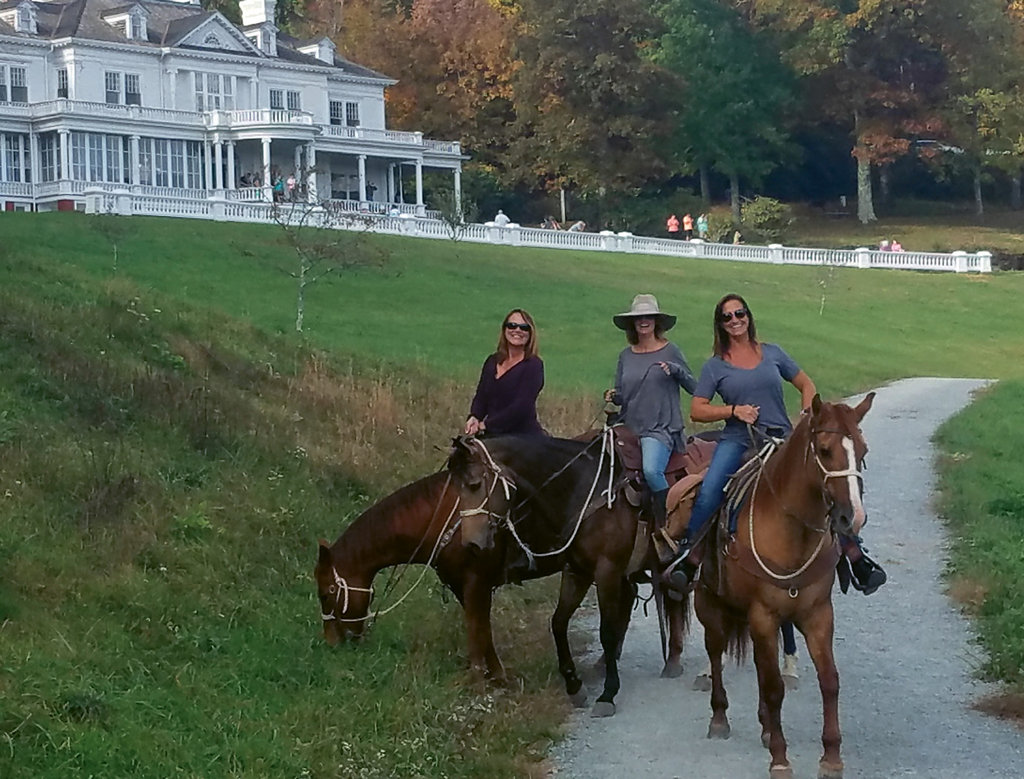 Horseback riding is a fun way to explore the lovely grounds of Moses Cone Manor.