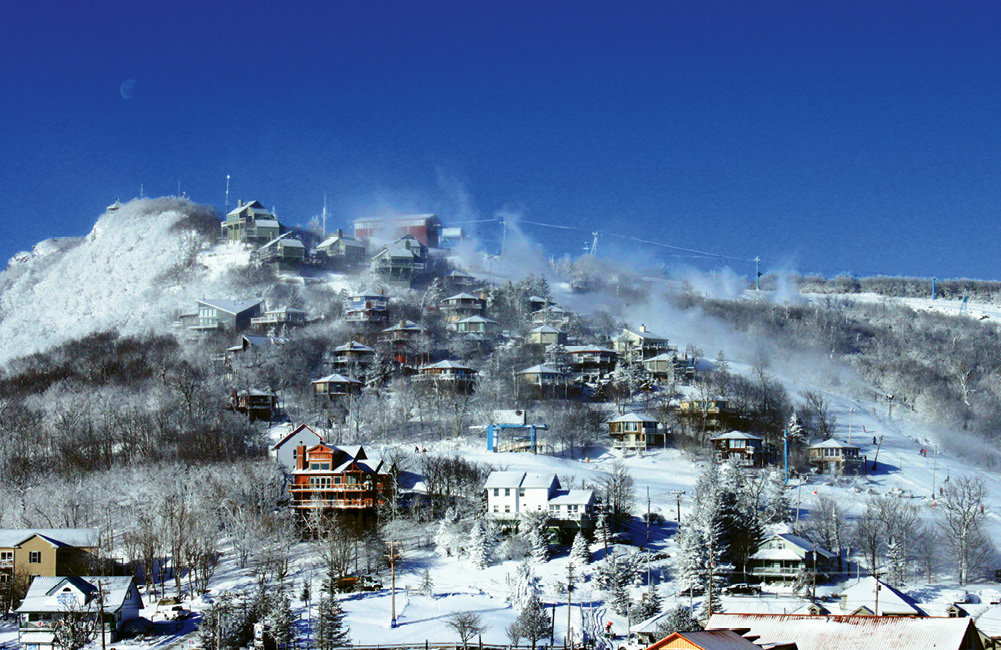 Among its many distinctions, Beech Mountain offers the highest-altitude skiing in the eastern United States.