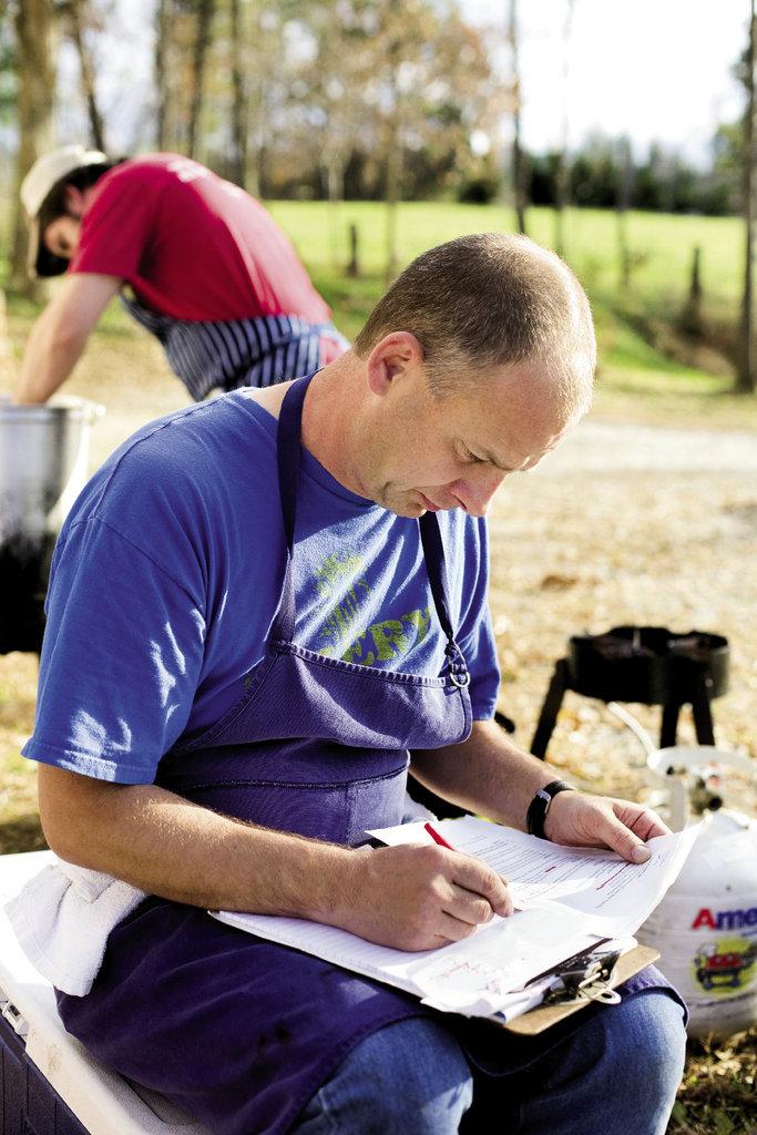 John Fleer created the menu for Preserve, held in September at Gaining Ground Farm.