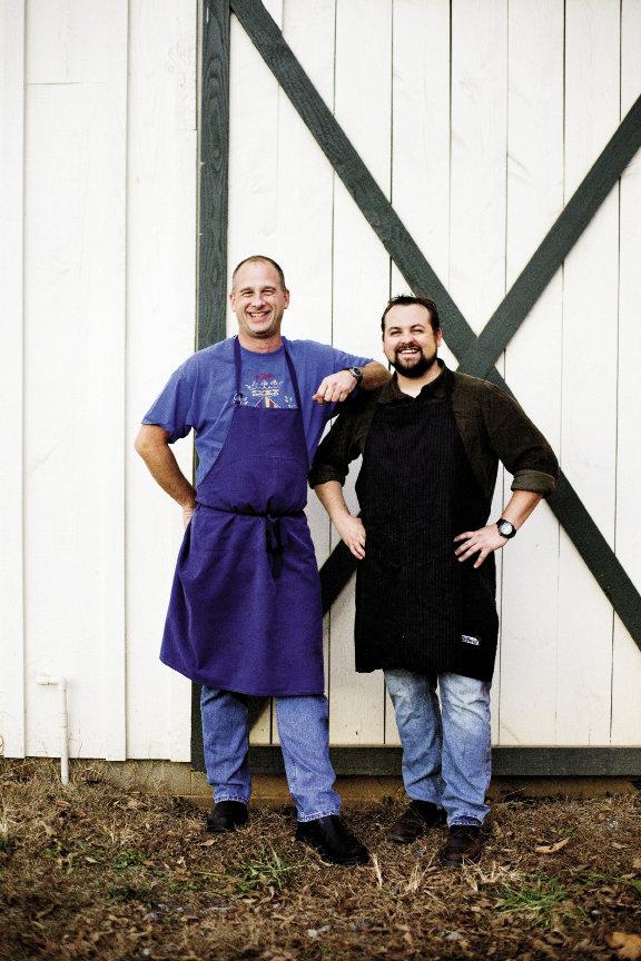 Chef John Fleer and Blind Pig founder Mike Moore.
