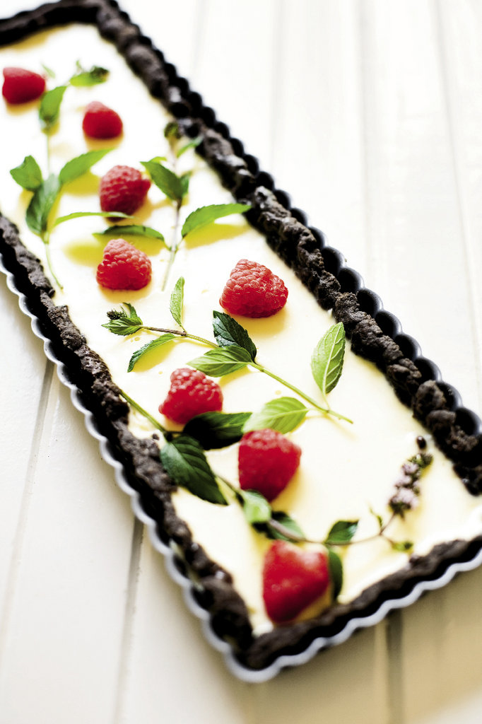 Chocolate Mint with Raspberries