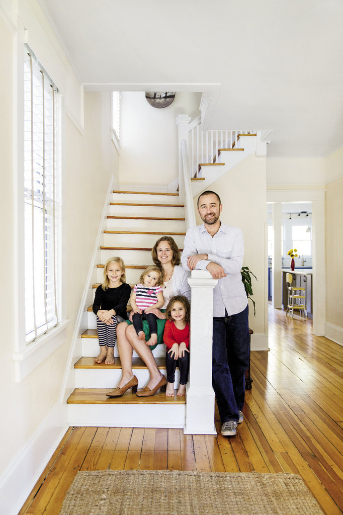 home sweet home Kevin and Harli Palme turned an ailing Dutch colonial-style house in Asheville's Montford neighborhood into a bright abode in which to raise their three girls.