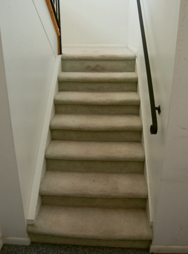 Before shot of the stairwell