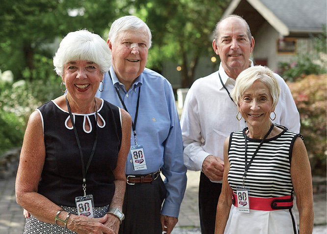 Patsy Farmer Jones, Dr. Don Jones, William Rushton, and Jean Ann Rushton