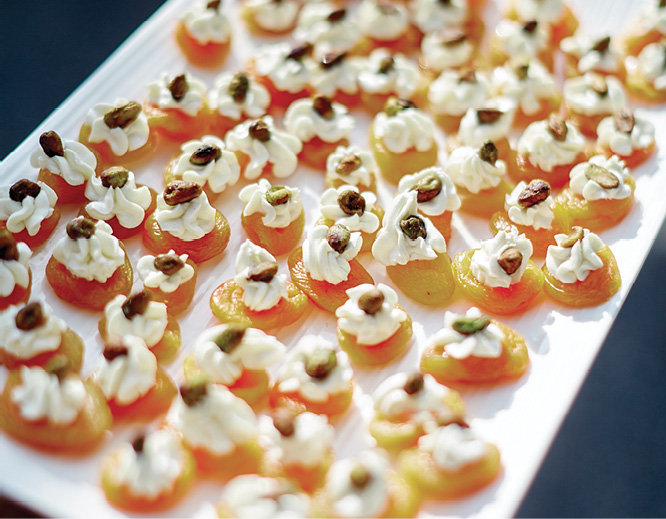 Canapés by catering partner The Cuisine Team