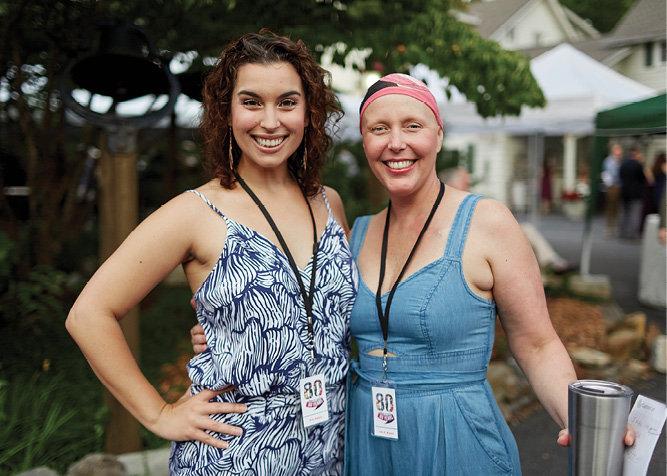 Erin Rubico and Flat Rock Producing Artistic Director Lisa K. Bryant