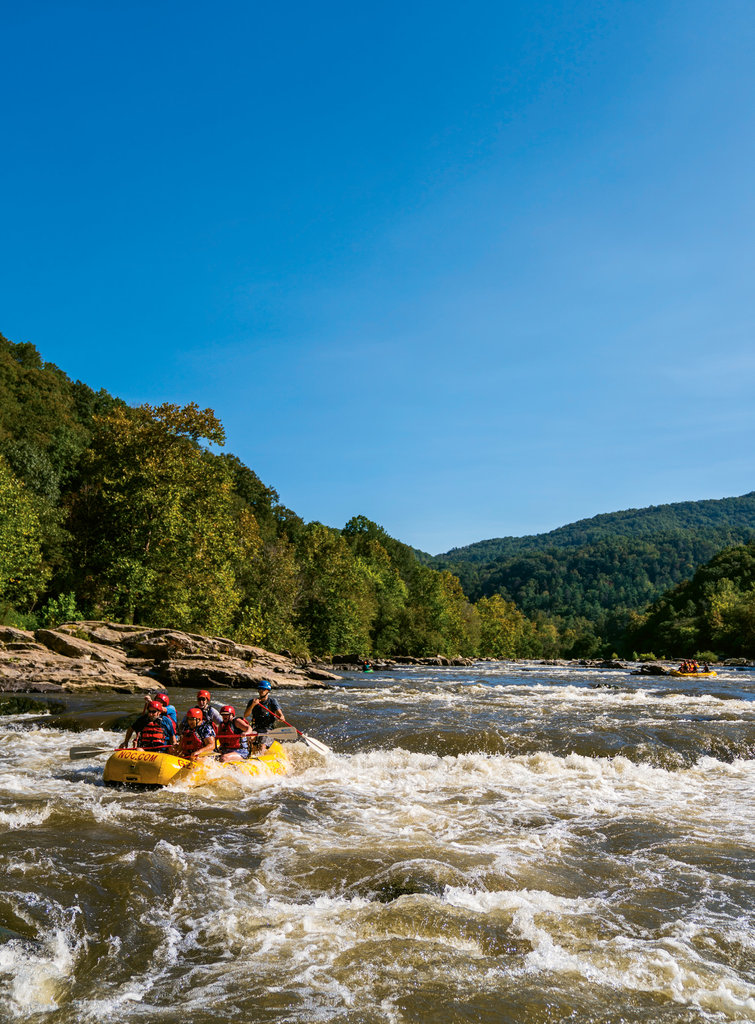 The Nantahala Outdoor Center's French Broad Outpost, based in Marshall, operates some of the most popular rafting runs on the river.