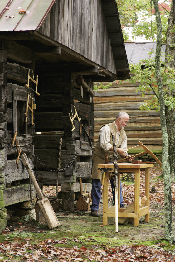 Hart Square springs to life every year during the fourth weekend in October, offering dozens of demonstrations, including the making of traditional bow saws.