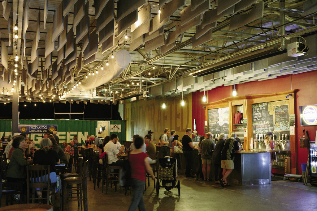 Since its humble beginnings in a basement in 1994, Highland  Brewing Company in east Asheville has seen steady expansion, including a tasting room added in 2010