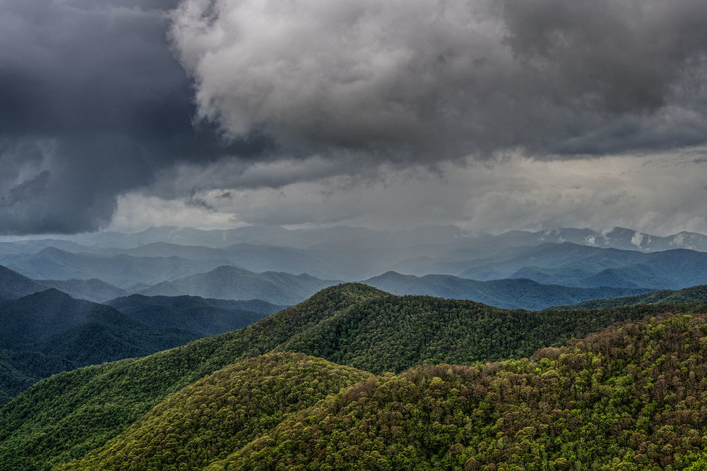 HONORABLE MENTION - APPROACHING RAIN SHOWER - Neil Jacobs - Taken along the Blue Ridge Parkway near Cherokee. Professional category