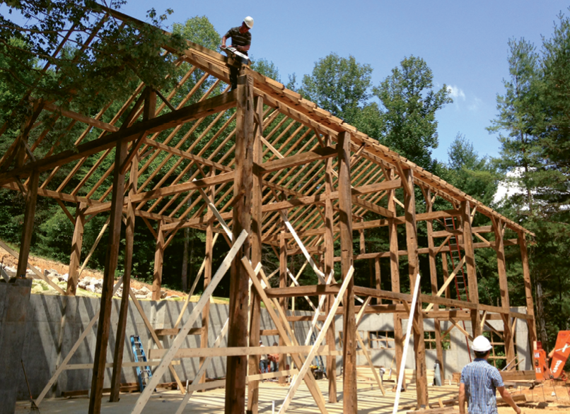 The framework coming together in Asheville