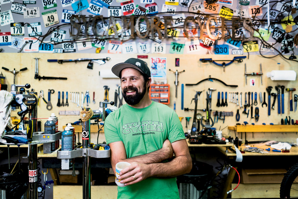 Wes Dickinson at Sycamore Cycles