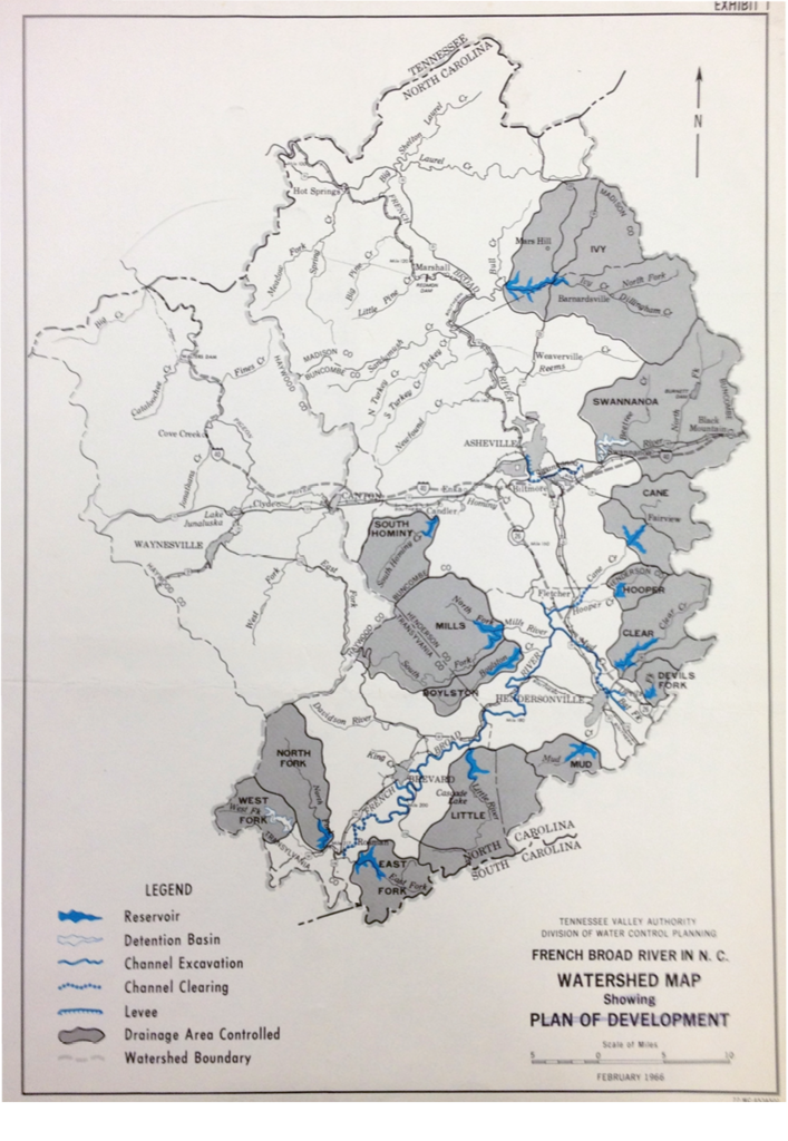 The Tennessee Valley Authority faced opposition to its plans to dam key mountain rivers, including the French Broad.