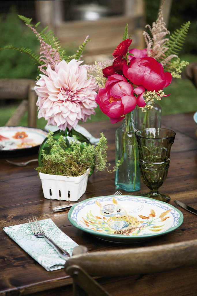 The table setting is as alluring as the food.
