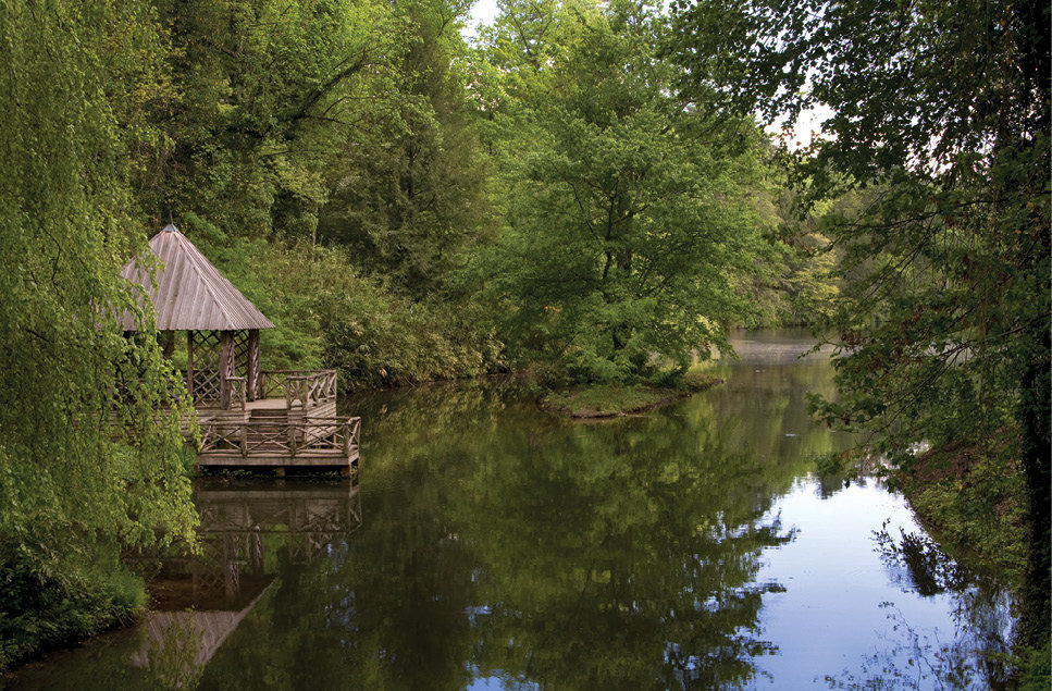 Natural selections: Olmsted specified that the Bass Pond should have a rustic bridge and boathouse as well as islets, both for aesthetic reasons and to attract waterfowl.