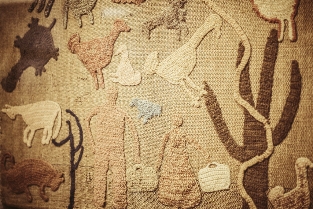 A textile piece housed in the History Center captures the spirit the school was founded on nearly 90 years ago: joyful communal labor and the dignity of working with your hands.